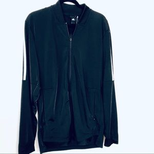 Adidas Black Track, Sweat Active Zip Up Jacket